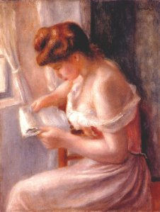 """A Girl Reading"" Pierre-Auguste Renoir"